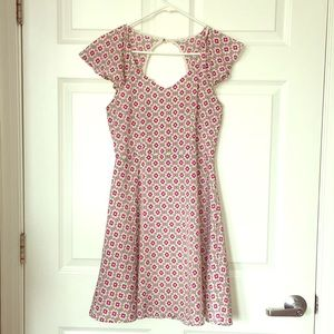 Modern printed sun dress mini